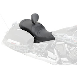 Drag Specialties Mild Stitch Low Profile Touring 2-Up Seat For Victory 0810-1544