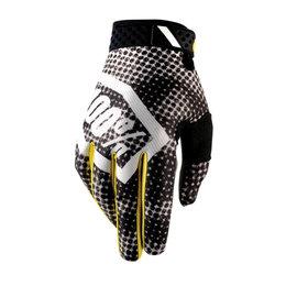 100% Mens Ridefit Blur MX Motocross Offroad Riding Gloves Black