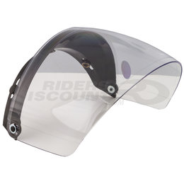 GMax GM2 3 Snap Flip Up Open Face Helmet Shield