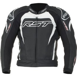 RST Mens Tractech Evo II Armored Leather Sport Motorcycle Riding Jacket Black