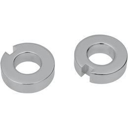 Drag Specialties Rear Axle Adjuster Spacers Pair For Harley Softail 0214-0589 Unpainted