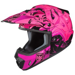 HJC Womens CS-MX 2 CSMX II Graffed Motocross MX Off-Road Helmet Pink