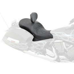 Drag Specialties Full Stitch Low Profile Touring 2-Up Seat For Victory 0810-1545 Black