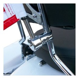 Stainless Steel Pro Pad Round 5 8 Sissy Bar Flag Mount With 10x15 Flag For Harley