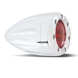 Chrome, White Ring Led's, Amber Lens Arlen Ness Turn Signal W Fire Ring Dual Func Deep Cut Chrm White Ring Amber Lens