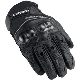 Black Cortech Accelerator 3 Leather Gloves