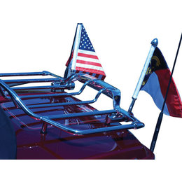 N/a Pro Pad Flag Mount With 6x9 Flag For Harley Air Wing Rack