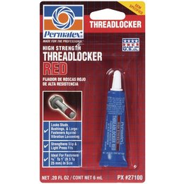 PERMATEX #271 THREADLOCKER SEALANT RED 6 ML
