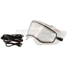 Fly Racing Trekker Dual Lens Electric Heated Snowmobile Helmet Shield With Cord