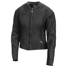 RSD Womens Quinn Quilted Leather Riding Jacket Black