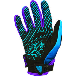 Blue, Purple Fly Racing Womens Kinetic Gloves 2014 Blue Purple