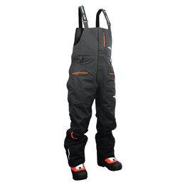 Black Hmk Mens Short Cascade Textile Bib Snow Pants