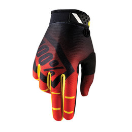 100% Mens Ridefit Corp MX Motocross Offroad Riding Gloves Red
