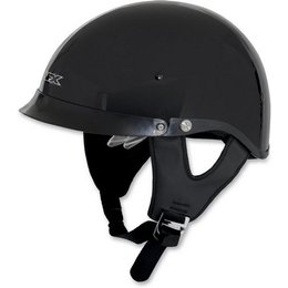 Black Afx Mens Fx-200 Half Helmet With Dual Built-in Shields