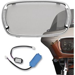 Chrome Cycle Visions Illumabezel With Smoke Lens Fltr 98-09