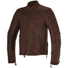 Alpinestars Mens Brera Armored Leather Jacket Brown