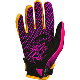 Pink, Orange Fly Racing Womens Kinetic Gloves 2014 Pink Orange