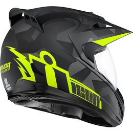 Icon Variant Deployed Dual Sport Helmet With Anti-Lift Visor Black