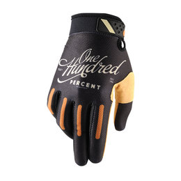 100% Mens Ridefit Class MX Motocross Offroad Riding Gloves Black