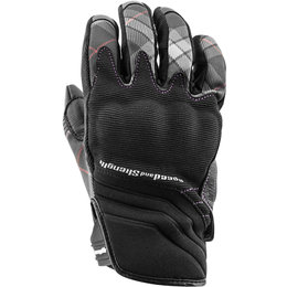 Speed & Strength Womens Cross My Heart Textile Gloves Black