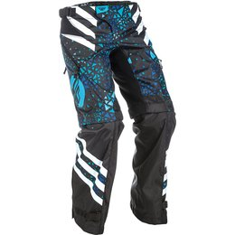 Fly Racing Youth Girls Kinetic Over-the-Boot Convertible MX Pants Blue