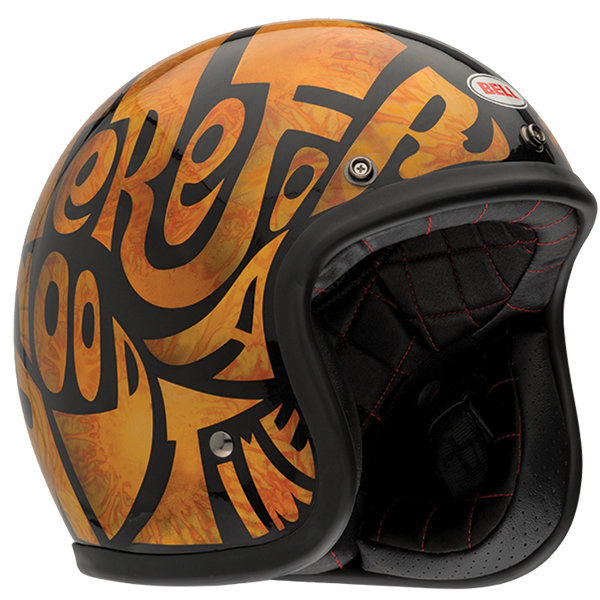 Bell Motorcycle Helmet >> $139.95 Bell Powersports Custom 500 Good Times Open Face ...