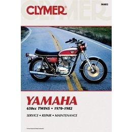 Clymer Repair Manual For Yamaha 650 Twin 70-82