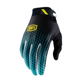 100% Mens Ridefit Teal MX Motocross Offroad Riding Gloves Blue
