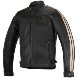 Alpinestars Mens Oscar Collection Charlie Leather Jacket Black
