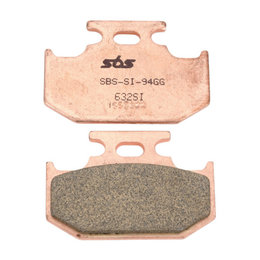 SBS Off Road SI Sintered Rear Brake Pads Single Set Only Kawasaki Yamaha 632SI Unpainted