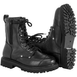 River Road Mens Double Zipper Leather Field Boots Black