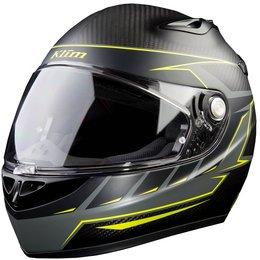 Klim K1R Karbon Discern Carbon Fiber ECE DOT Full Face Helmet Yellow