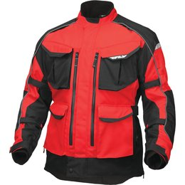 Fly Racing Mens Terra Trek 4 Textile Jacket Red