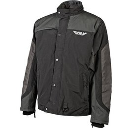 Black, Grey Fly Racing Aurora Snow Jacket Black Grey