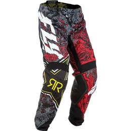 Fly Racing Mens Kinetic Rockstar MX Pants Red