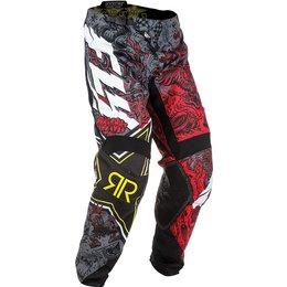 Fly Racing Mens Kinetic Rockstar MX Pants Red
