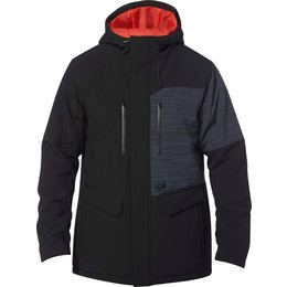 Fox Racing Mens Bionic LCQ Hooded Water-Resistant DWR Coated Cold Weather Jacket Black
