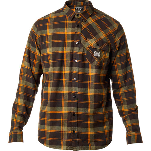 Fox racing mens drezzy long sleeve flannel shirt for Types of flannel shirts
