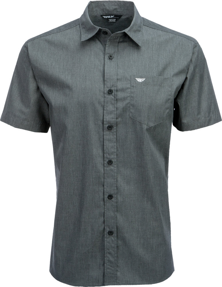 Fly racing mens button up short sleeve woven shirt for Guys button up shirts