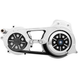 Belt Drives 2 Inch 1-Piece Motor Plate Kit Harley FLHT FLT Chrome EVO-16BH-2C Unpainted
