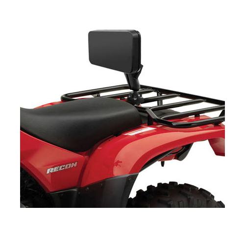 ram mount backrest pad for atv 1 1 2 inch ball double u bolt rail mount black. Black Bedroom Furniture Sets. Home Design Ideas