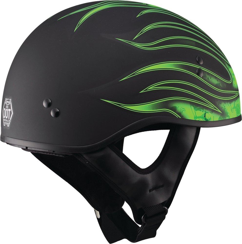 GMax GM65 Skull Flame Naked Half Helmet | eBay