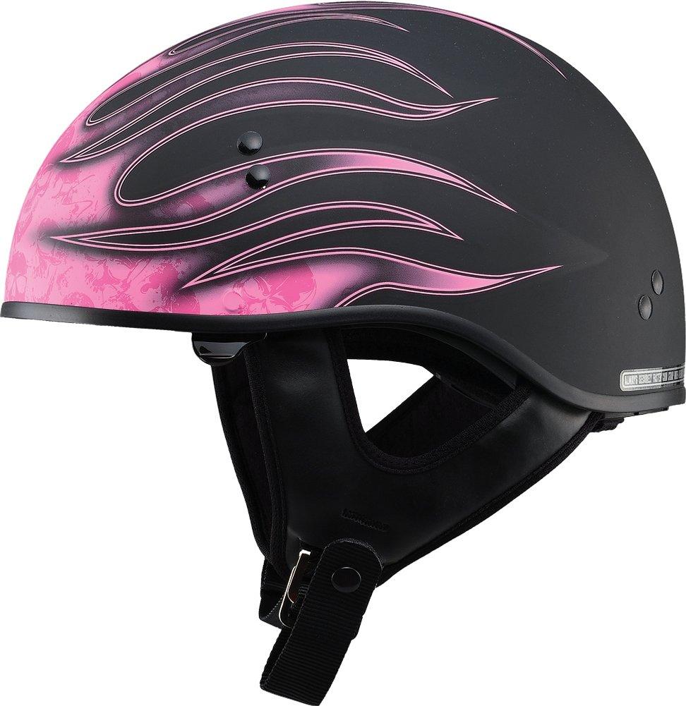 GMax Womens GM65 Skull Flame Naked Half Helmet | eBay
