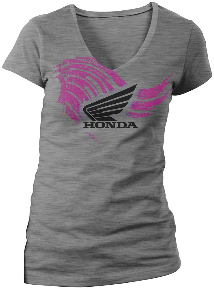 honda womens abstract wing v neck t shirt 2013 ebay. Black Bedroom Furniture Sets. Home Design Ideas