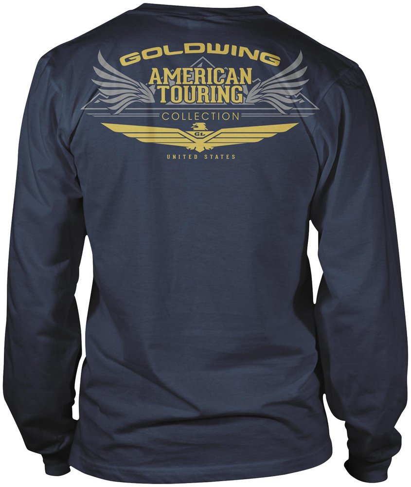honda mens goldwing touring collection long sleeve t shirt. Black Bedroom Furniture Sets. Home Design Ideas