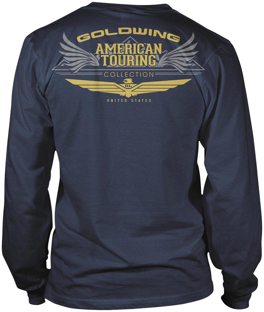 honda mens goldwing touring collection long sleeve t shirt. Black Bedroom Furniture Sets. Home Design Ideas
