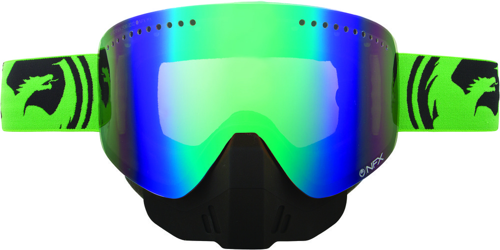 Dragon Alliance NFX Split Snow Goggles with Green Ionized ...