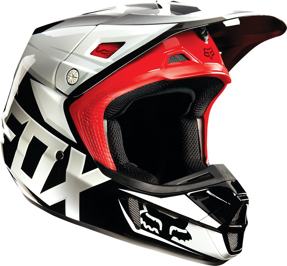 fox racing v2 race mx helmet ebay. Black Bedroom Furniture Sets. Home Design Ideas
