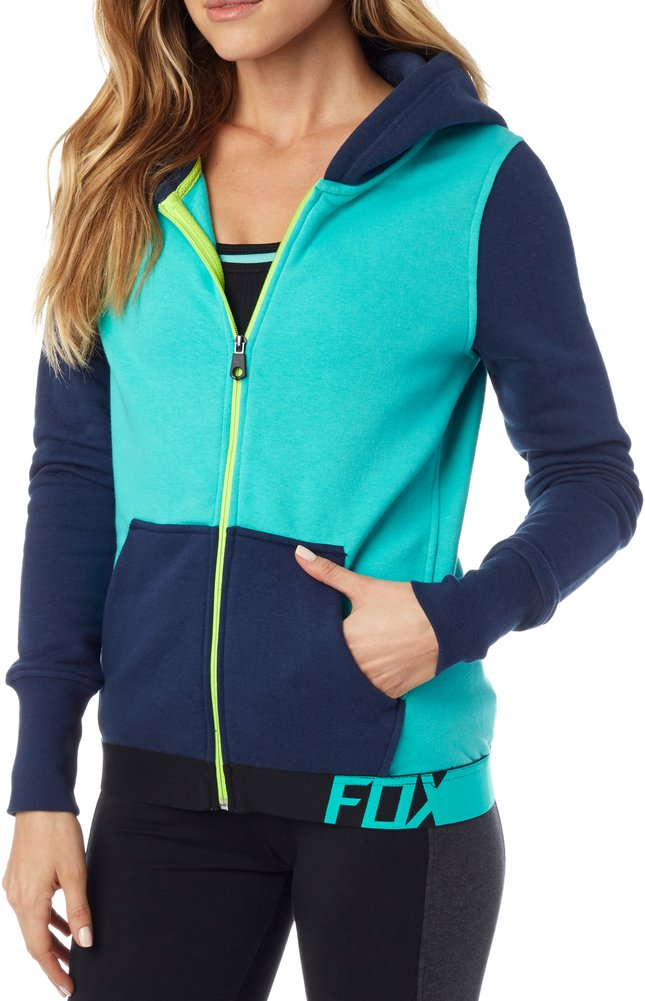 Fox racing womens certain mid weight fleece front zip for Zip front flannel shirt