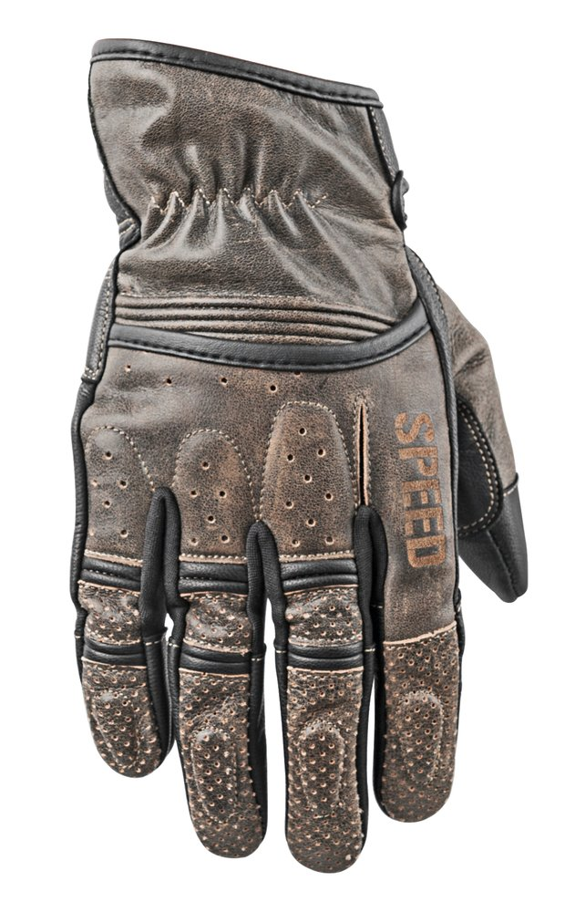 Speed & Strength Mens Rust and Redemption Leather Gloves 2015